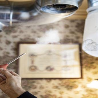 Test de prévention du Covid-19 dans le restaurant d'Alain Ducasse